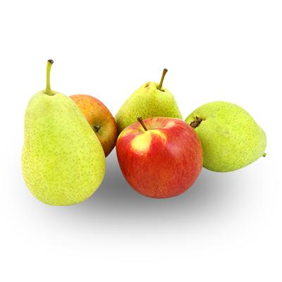 sezonní ovoce – jablka, hrušky, jahody